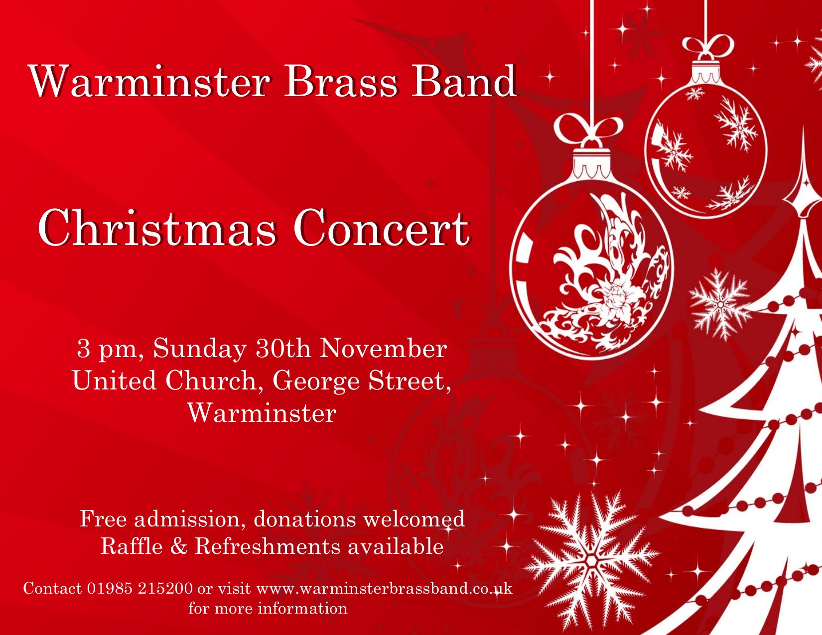 Christmas Concert 2014 Warminster Brass Band